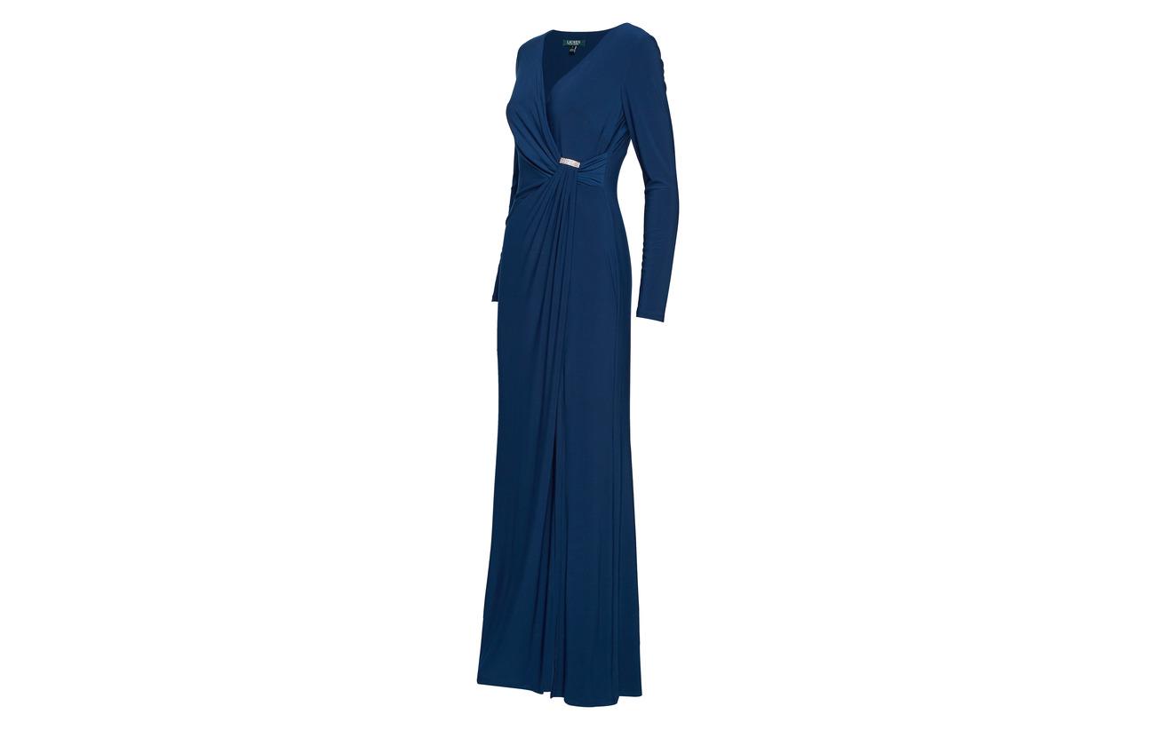 Bryl 95 Ralph 5 Jersey Shirred Lauren Elastane Luxe Gown Polyester UXgAq