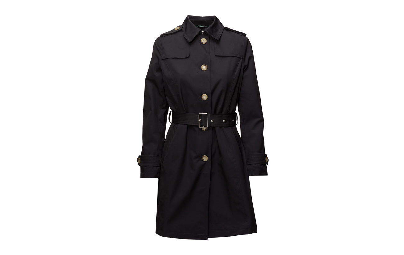 Doublure Cotton Cherry Polyester blend Coquille Blossom Ralph Extérieure Coton Trench 100 43 Belted 57 Lauren A5ZwOx47