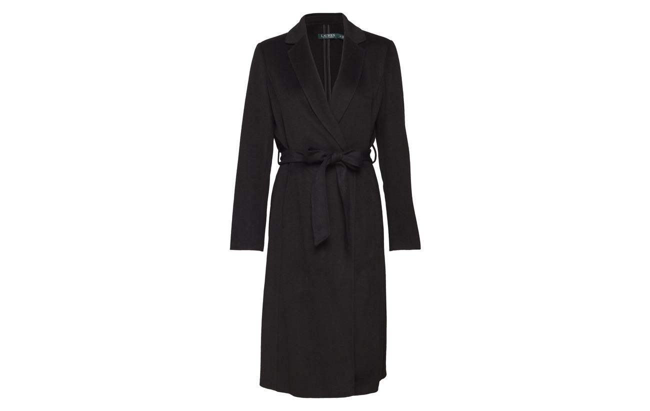 Otherfiber Face Laine Wool Black 45 Double Polyester Wrap Wool 5 Ralph Lauren 50 df FaOwExq