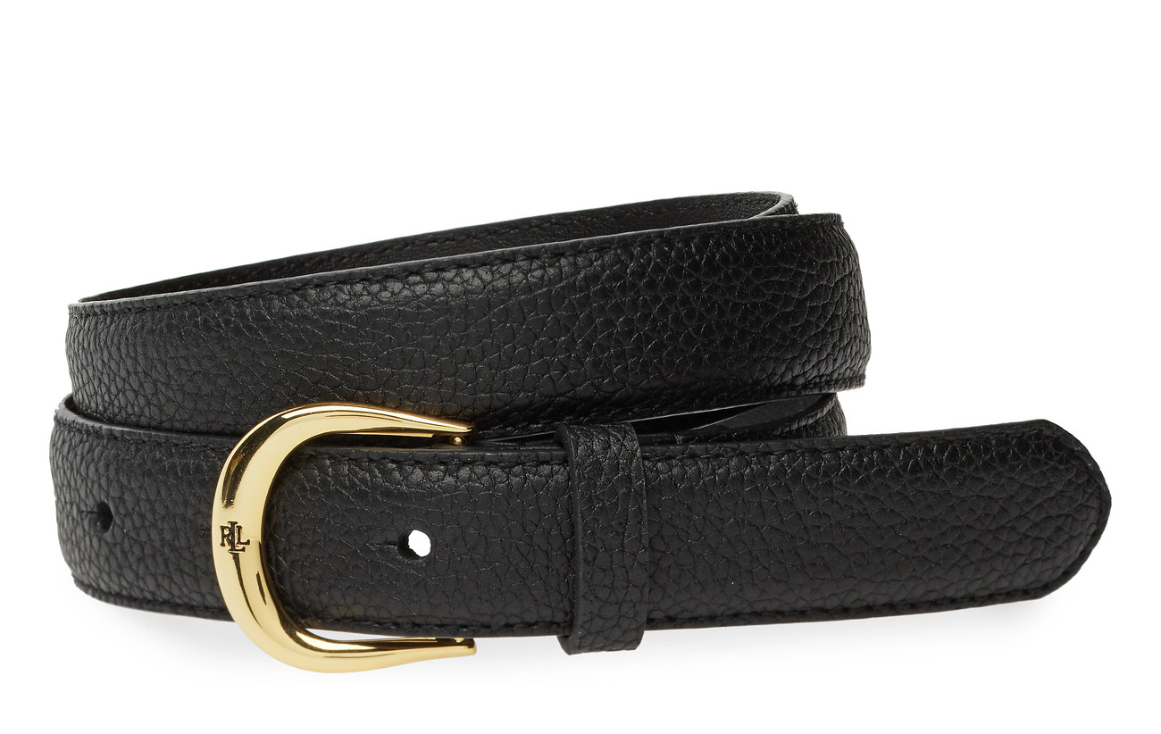 Lauren Ralph Lauren Leather Belt - BLACK