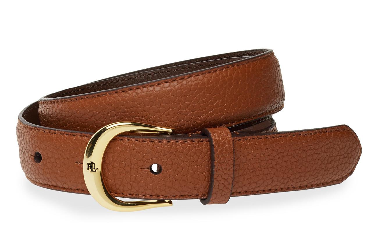 Lauren Ralph Lauren Leather Belt - LAUREN TAN