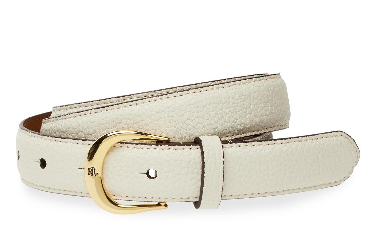 Lauren Ralph Lauren Leather Belt - VANILLA