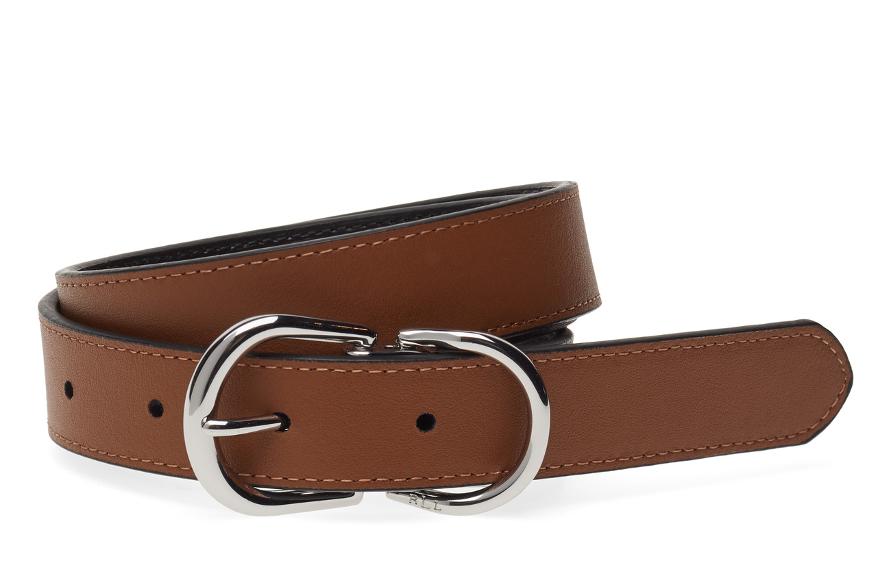 Lauren Ralph Lauren Reversible Leather Belt - BLACK/FIELD BROWN