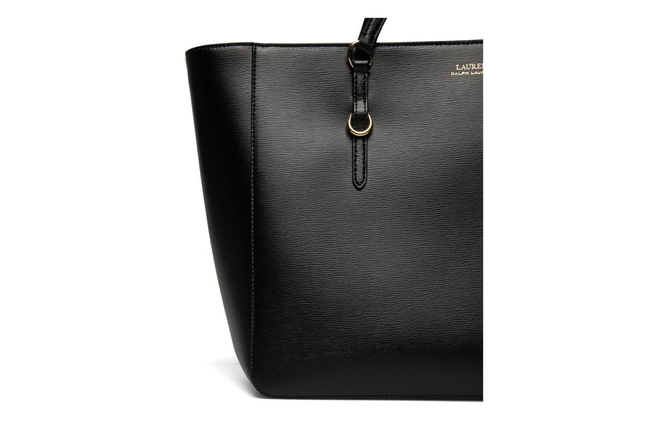 Intérieure Ralph Leather Saffiano Doublure Lauren Black Tote 100 Polyester PYAqTdw