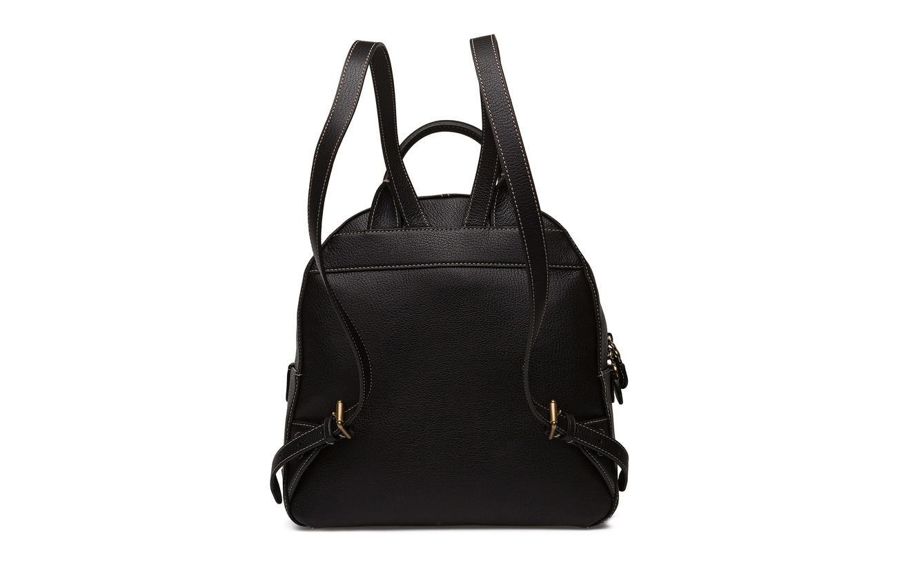 Lauren Ralph Leather 100 Cowleather Backpack Black Medium FH4wrFxq