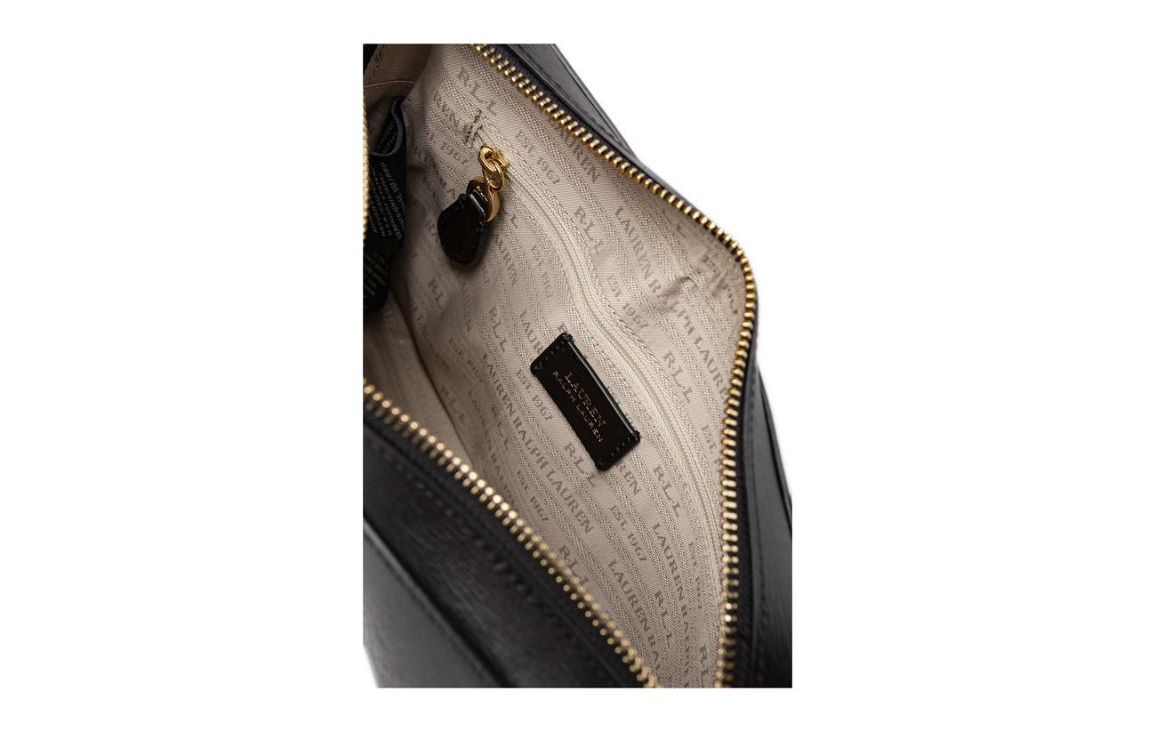 100 Leather Ralph Bag Black Cowleather Crossbody Medium Lauren Camera BOwTHHq