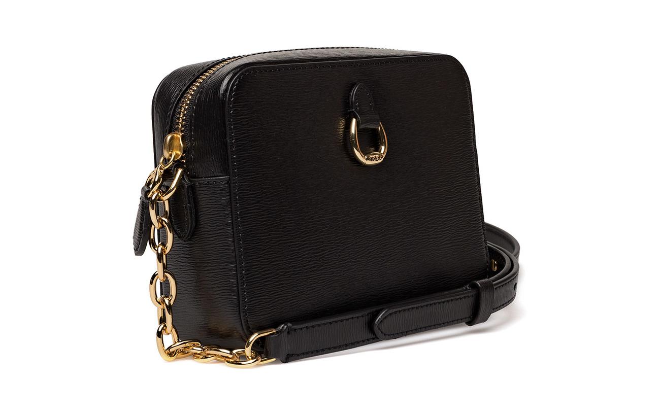 Chain Camera Lauren Bag link Cowleather Ralph Leather Black 100 wnzRzEBqx