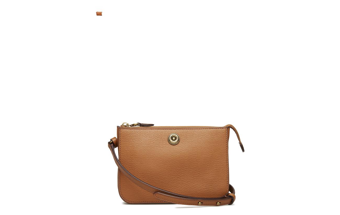 De Pebbled Bag Lauren Leather Ralph 100 Convertible Merlot Belt Peau Vache 4F7Hq6