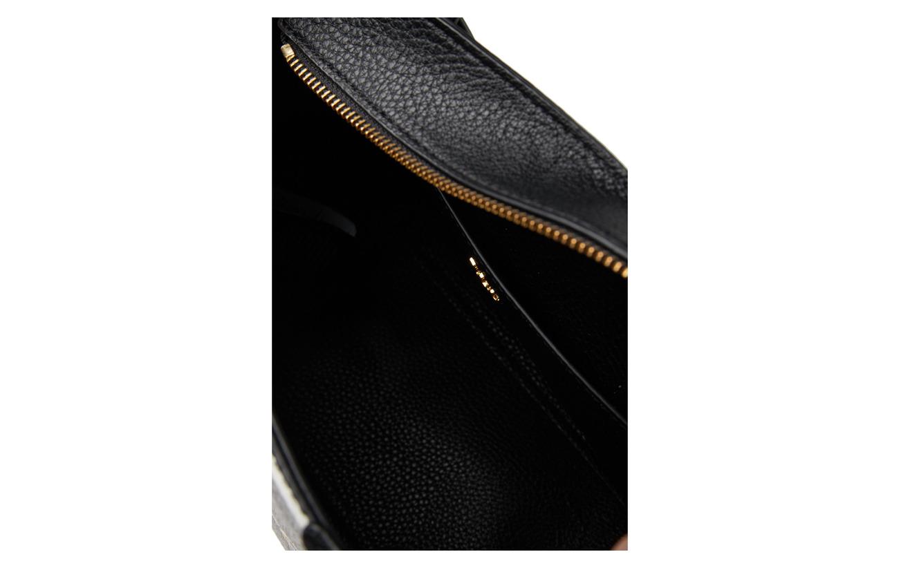 Polyurethane med Leather Ralph 100 Vegan Belting mini Tz cxb Tote Black Lauren Sig 1TpqO