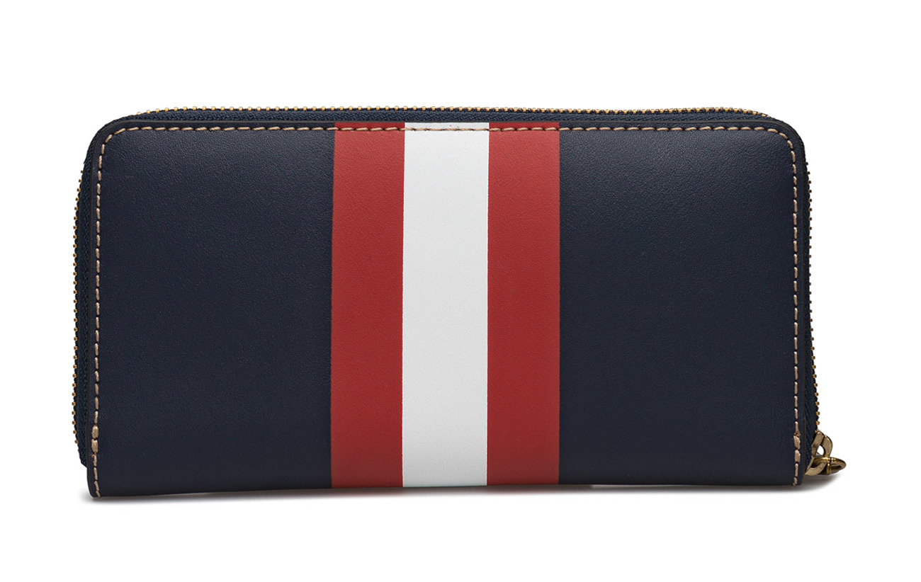 Wallet Striped W Red Ralph Navy 100 Cowleather wht Leather Lauren r qpwPtxOP