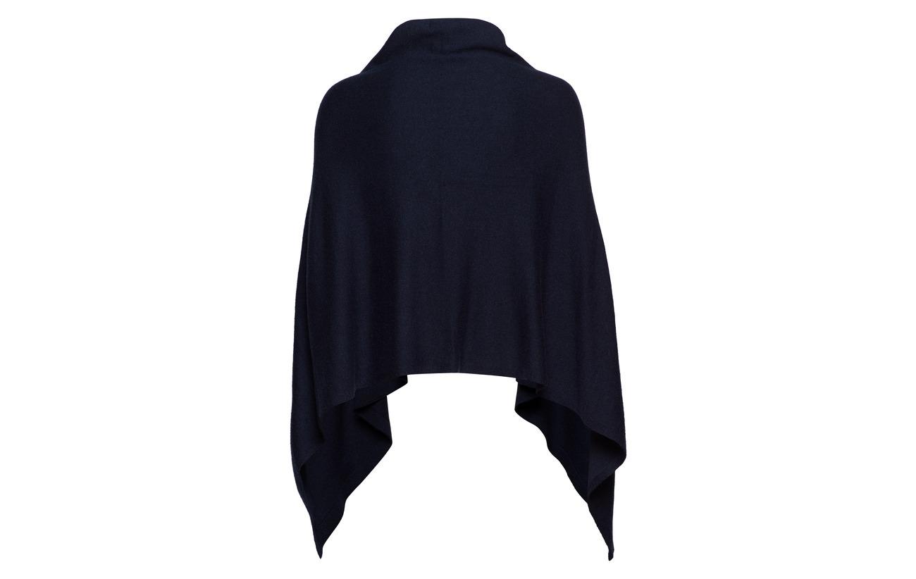 Mouton De Nylon Poncho 22 Lauren drape Ralph Navy 49 Nylon Laine Acrylique 25 fq14pvw1x