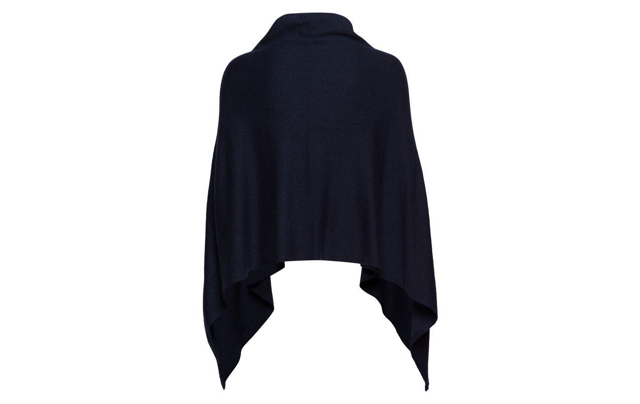 De drape Poncho 49 Lauren 25 Nylon 22 Navy Mouton Laine Acrylique Ralph Nylon qAw1z