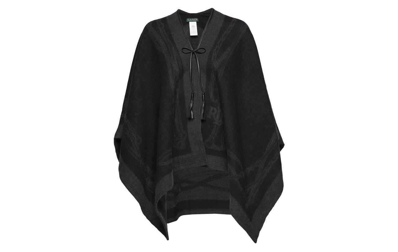 Black Acrylique 25 Laine De 22 Mouton Nylon Acrylic 49 bridle Cape Lauren Ralph charcoal qO7v1w8IZ