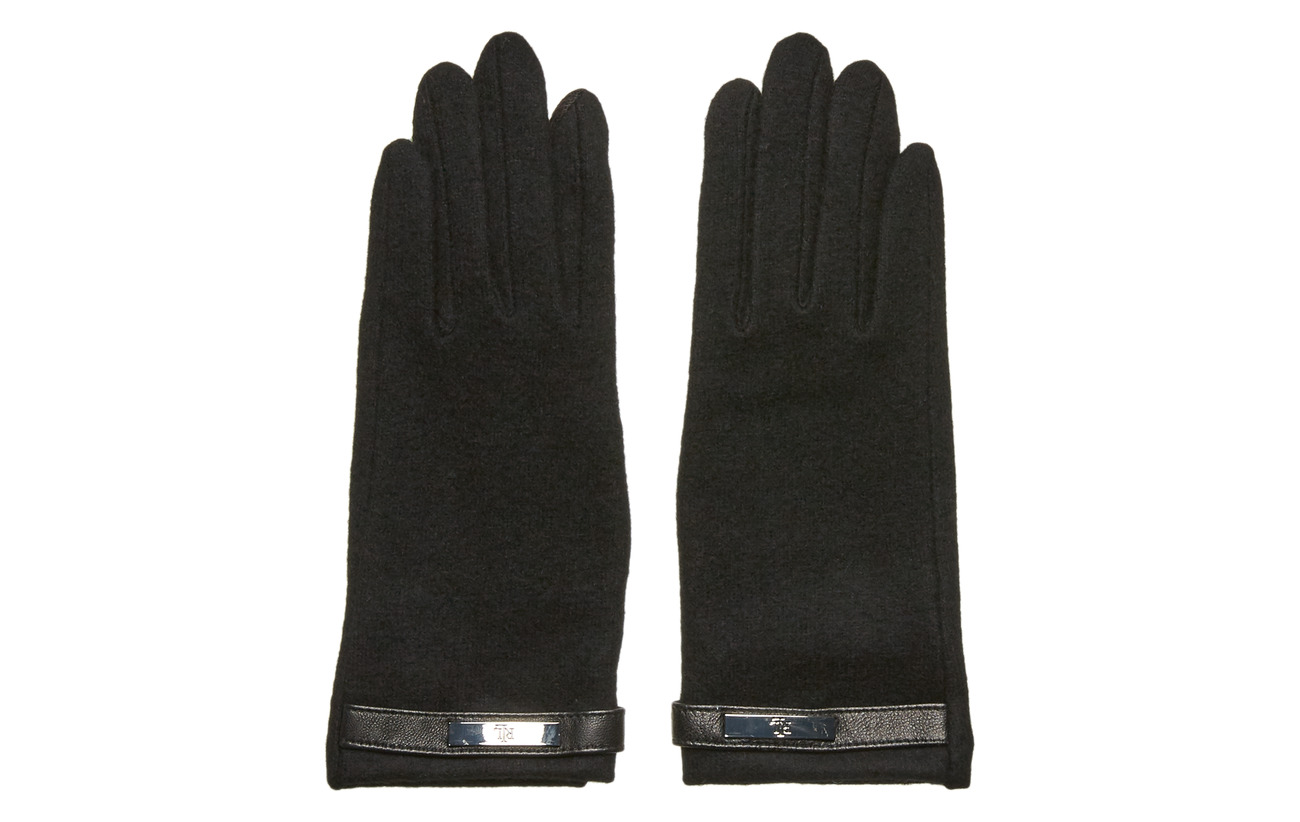 Lauren Ralph Lauren Wool-Blend Tech Gloves - BLACK