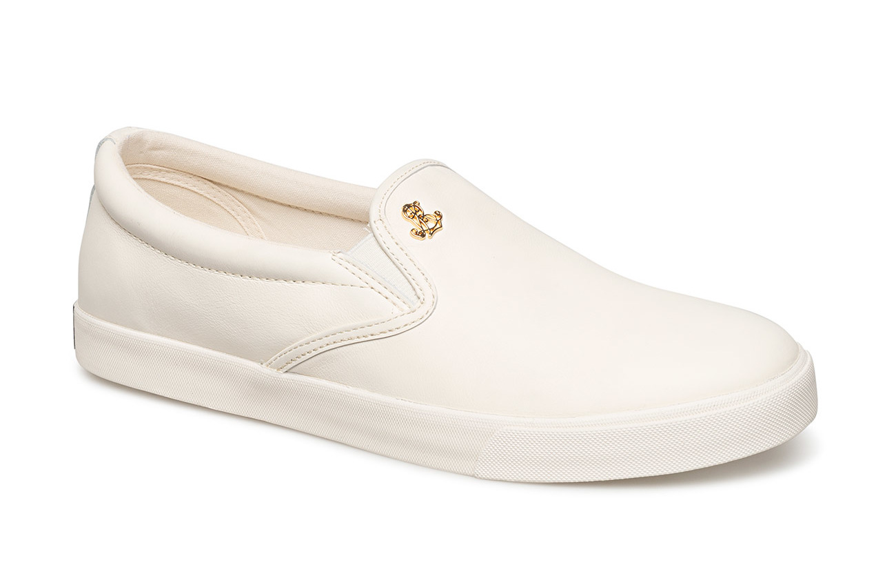Lauren Ralph Lauren Leather Slip-On Sneaker