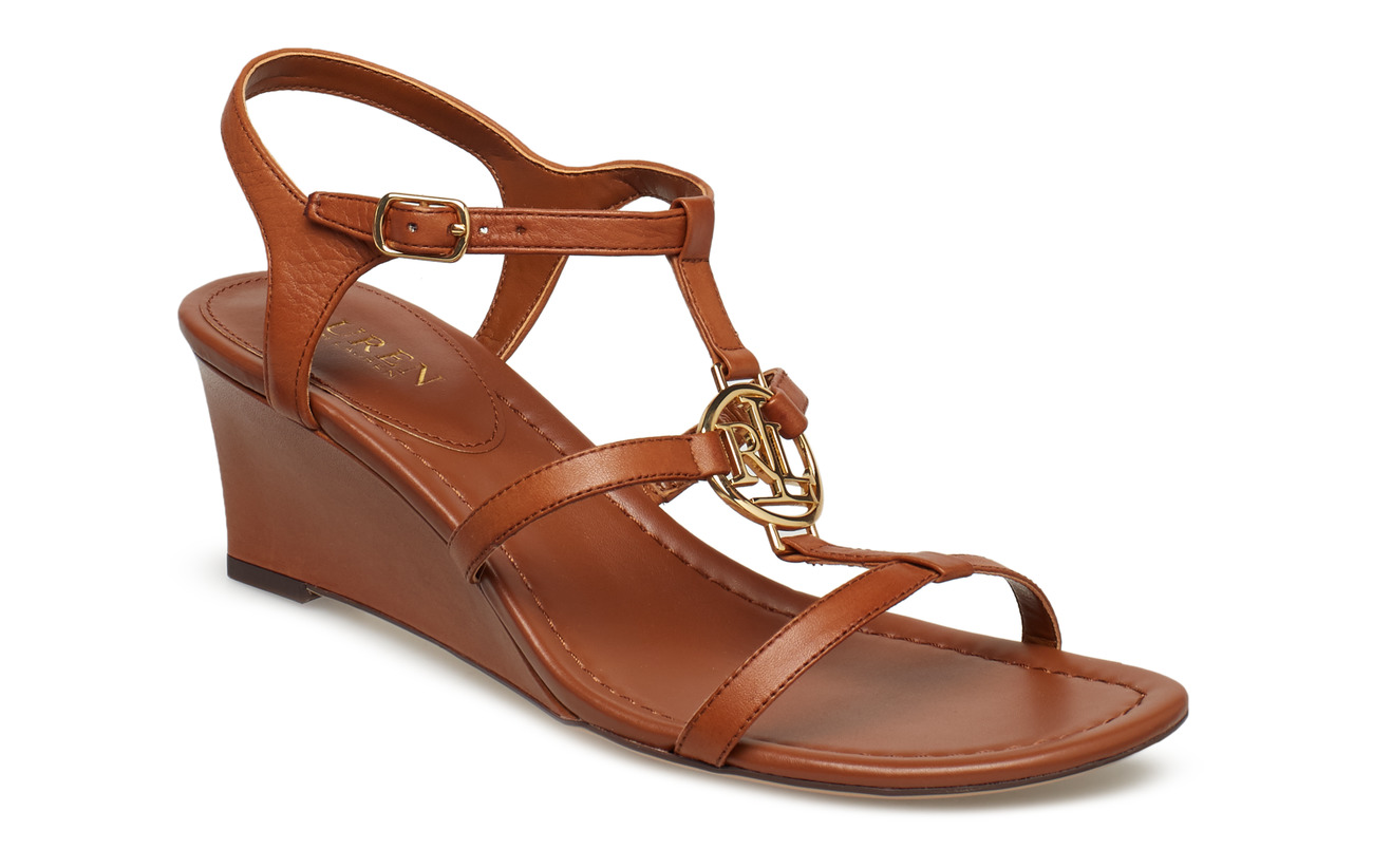 Lauren Ralph Lauren Elina Leather Wedge Sandal Högklackade skor