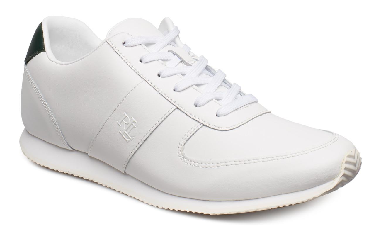 Lauren Ralph Lauren Cate Leather Sneaker - WHITE/LAUREN GREE