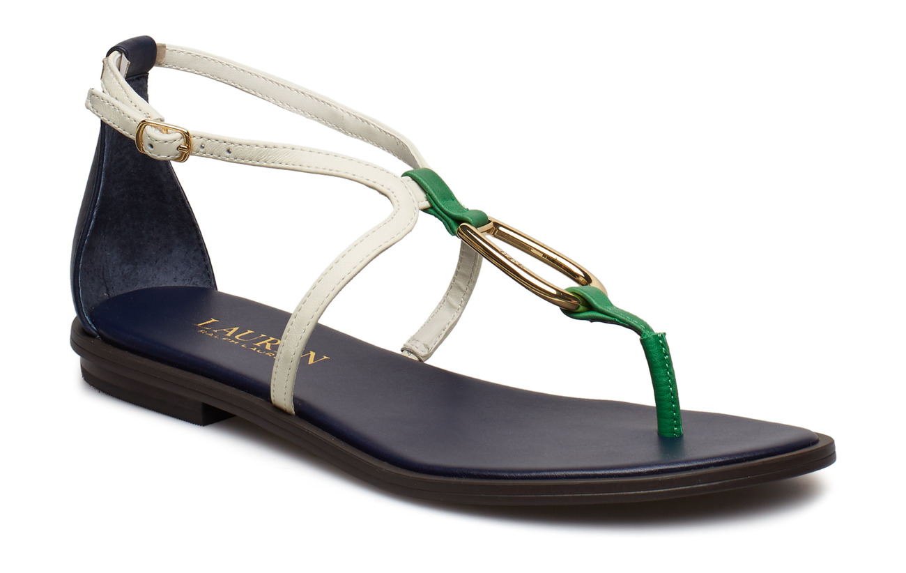 Lauren Ralph Lauren Nanine Leather Sandal - DKMIDNIGHT/VANILL