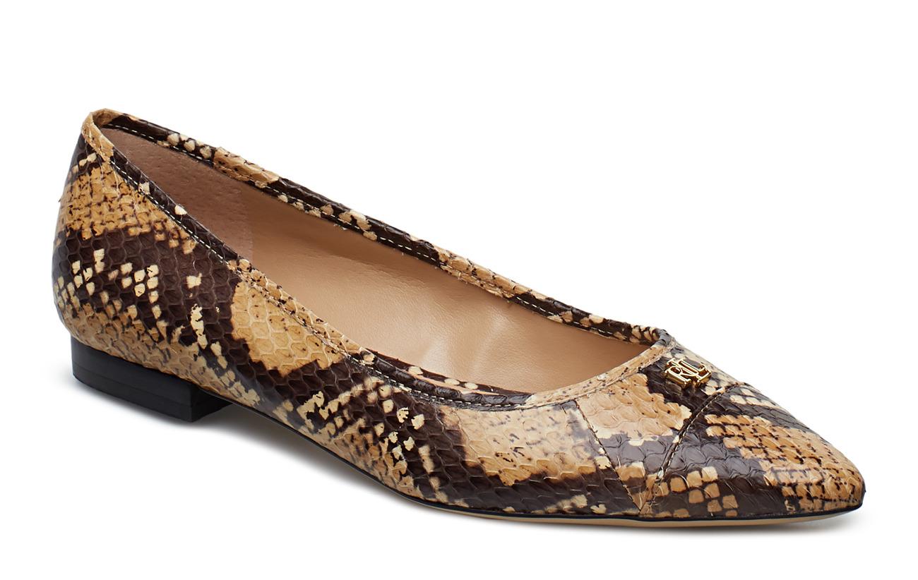 Lauren Ralph Lauren Halena II Snakeskin Flat - HONEY/BLACK