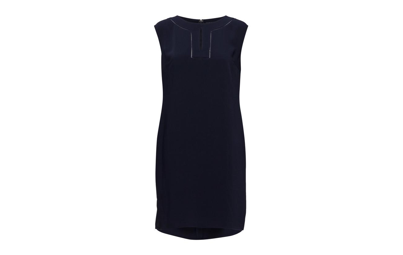 Lauren Ralph 100 Kaysci Sleeve casual Dress Polyester Navy cap RpqrwxPFR