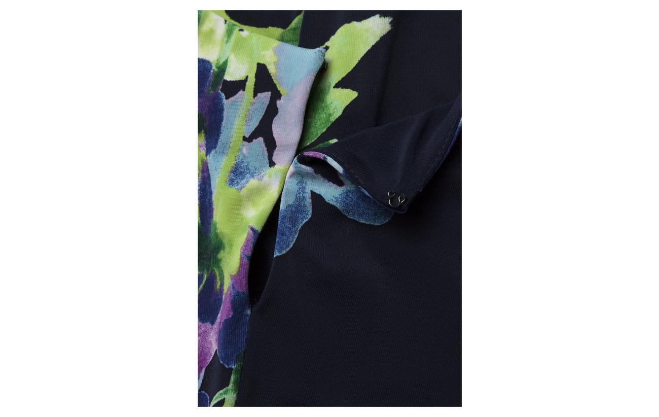Lauren 5 day 95 Elastane Dress Ralph sleeveless Lighthouse Navy Polyester Suzan gqzgAxRC