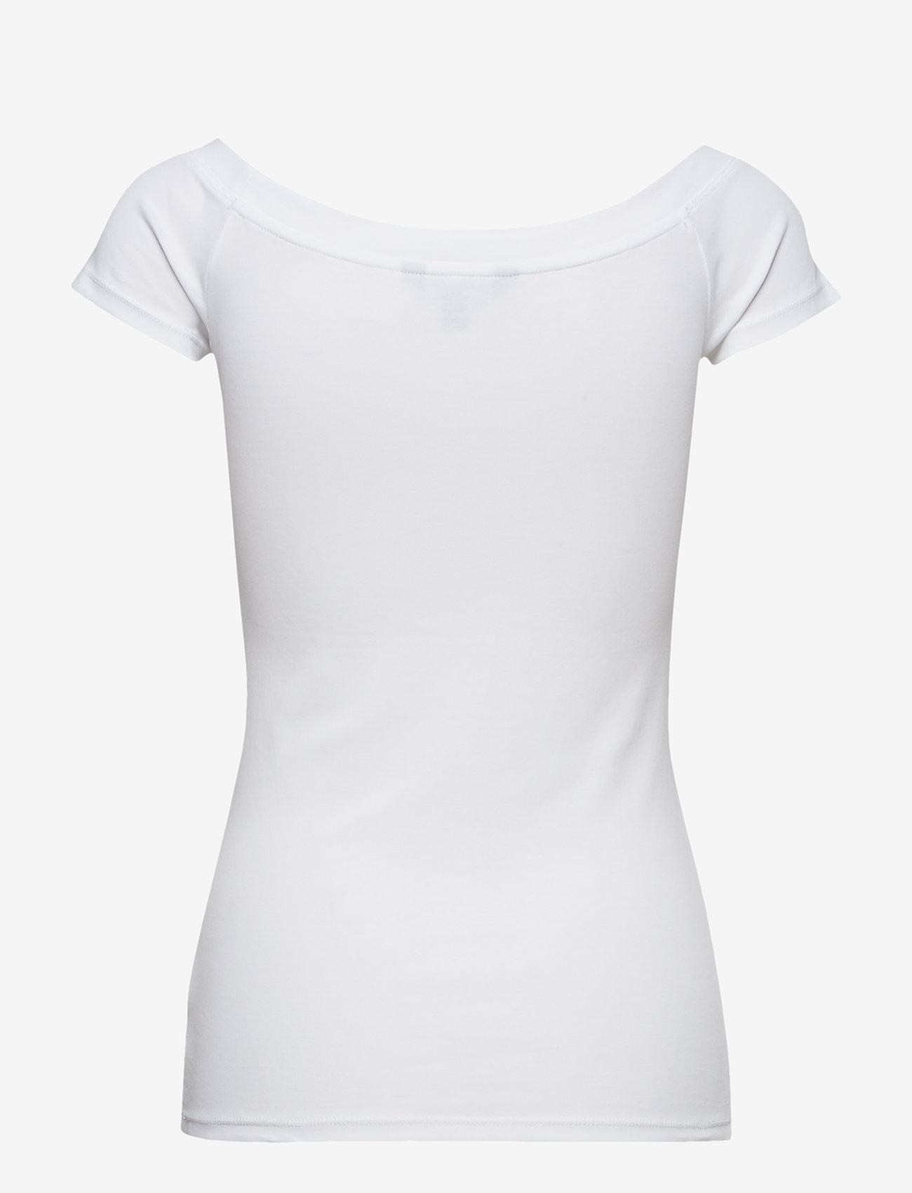 Lauren Ralph Lauren - Cotton Off-the-Shoulder Tee - t-shirts - white - 1