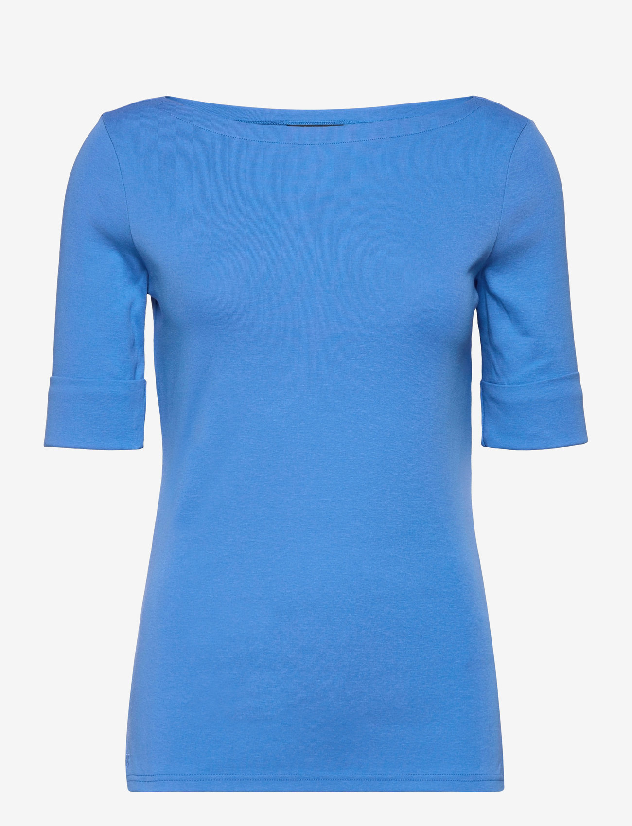 Lauren Ralph Lauren - Cotton Boatneck T-Shirt - t-shirts - captain blue - 1