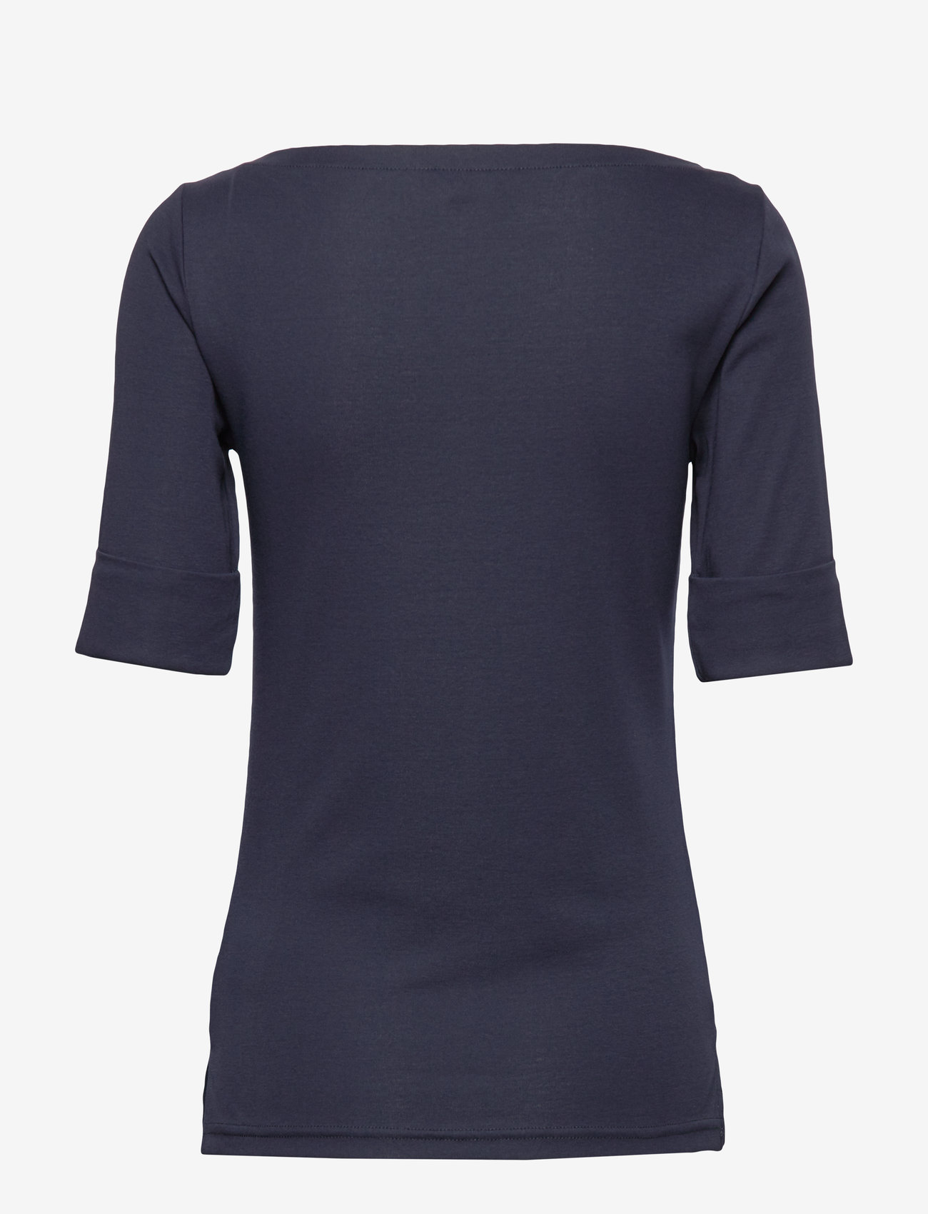 Lauren Ralph Lauren - Cotton Boatneck T-Shirt - t-shirts - lauren navy - 1