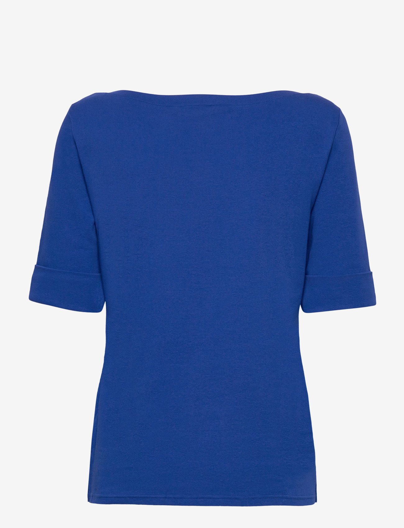 Lauren Ralph Lauren - Cotton Boatneck T-Shirt - t-shirts - royal cobalt - 1