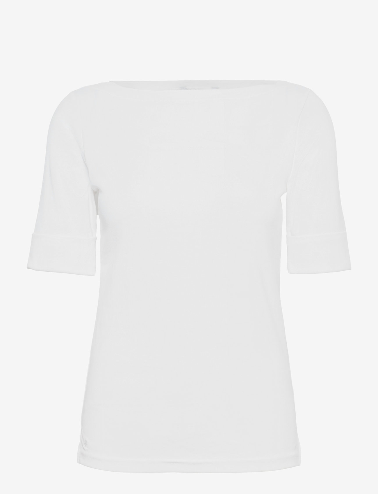 Lauren Ralph Lauren - Cotton Boatneck T-Shirt - t-shirts - white - 0