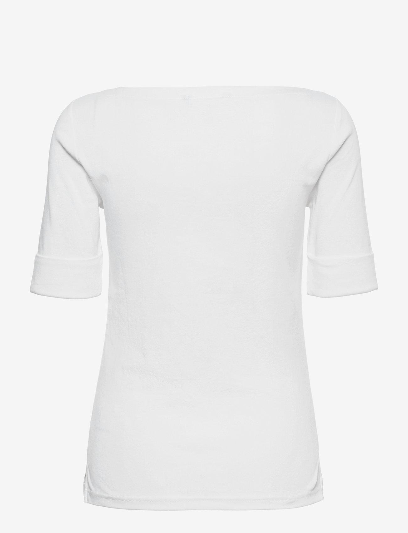 Lauren Ralph Lauren - Cotton Boatneck T-Shirt - t-shirts - white - 1