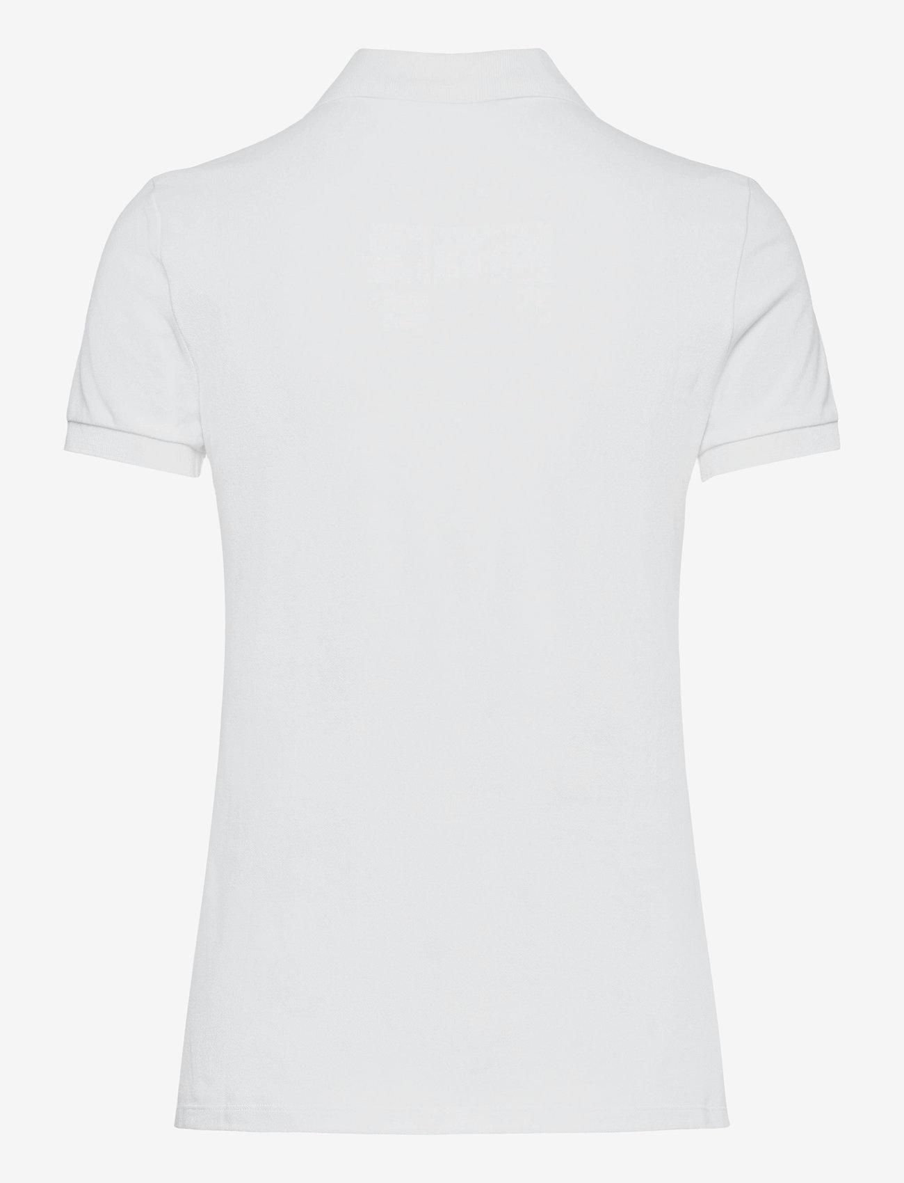 Lauren Ralph Lauren - Piqué Polo Shirt - polohemden - white - 1