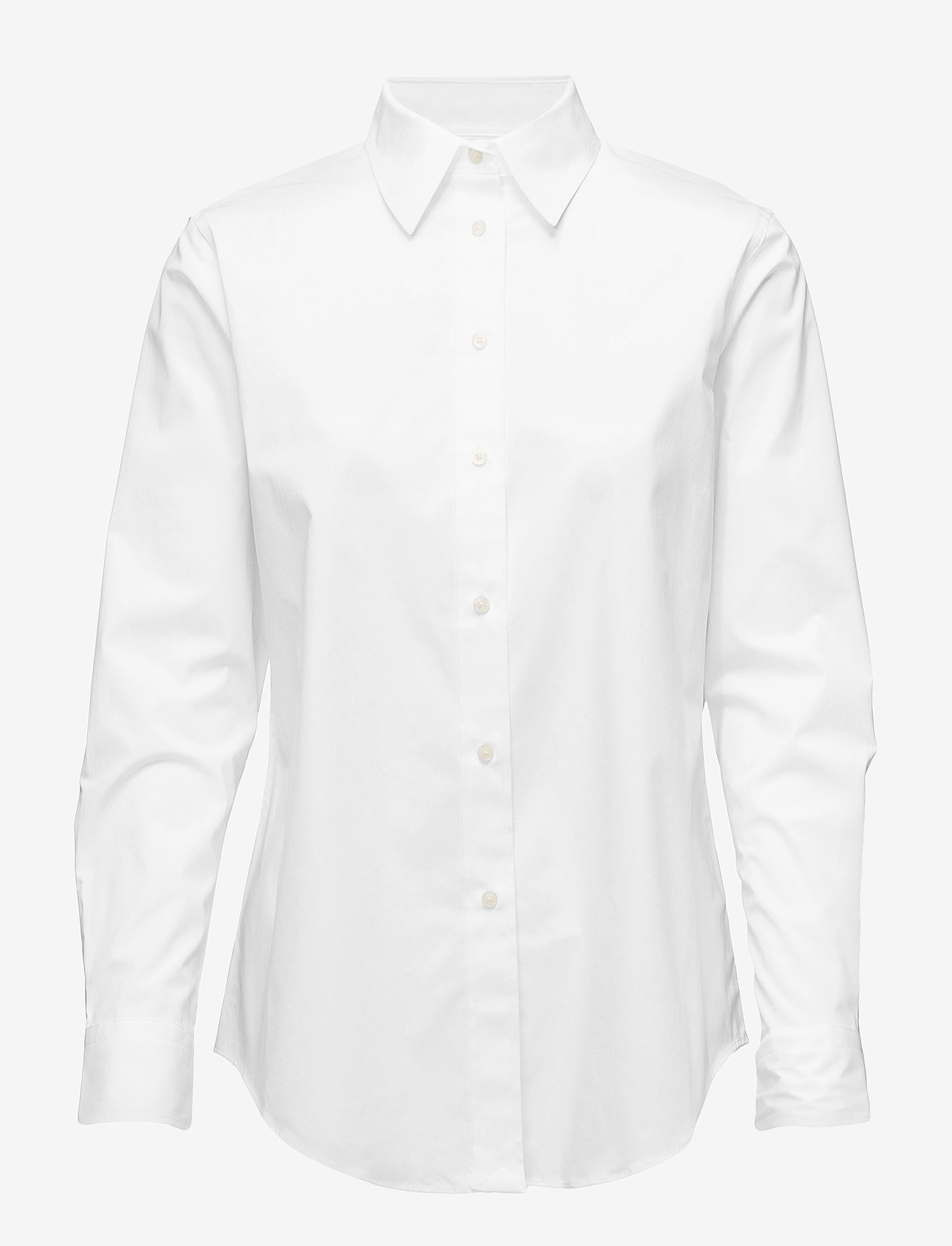 Lauren Ralph Lauren - No-Iron Button-Down Shirt - langærmede skjorter - white - 1