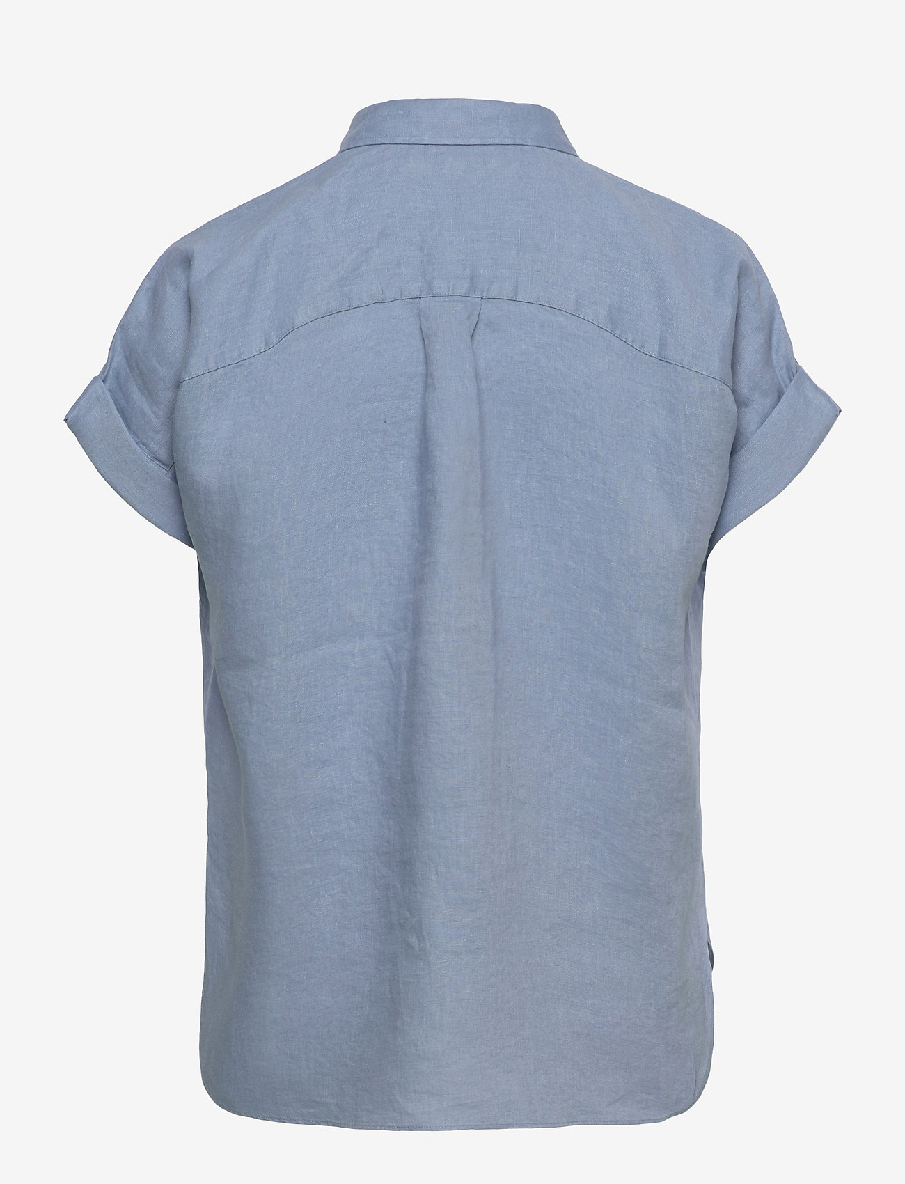Lauren Ralph Lauren - Linen Short-Sleeve Shirt - kortærmede skjorter - dust blue - 1