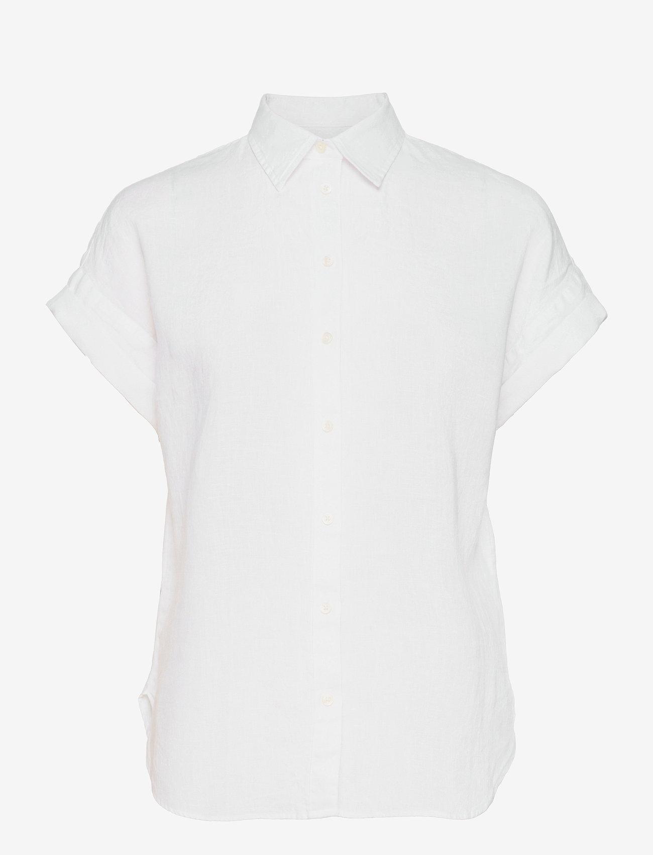 Lauren Ralph Lauren - Linen Short-Sleeve Shirt - casual blazere - white - 0