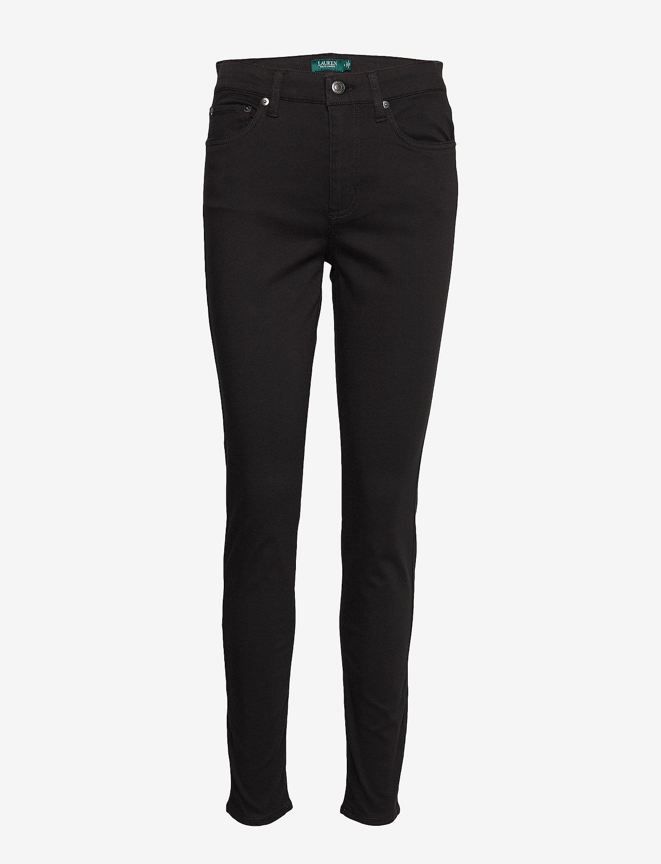 Lauren Ralph Lauren - PCDYE WASHED SATEEN-PANT - broeken med skinny fit - polo black - 0