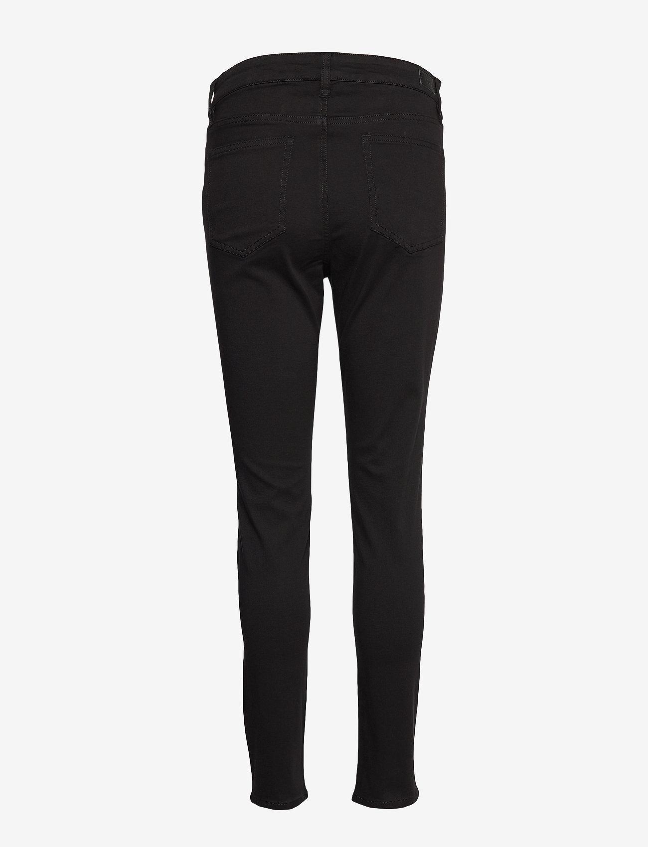 Lauren Ralph Lauren - PCDYE WASHED SATEEN-PANT - broeken med skinny fit - polo black - 1