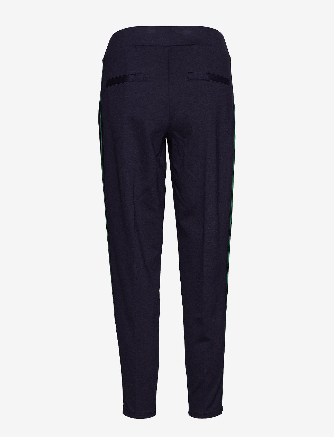Lauren Ralph Lauren - Side-Stripe Ponte Jogger Pant - suorat housut - lauren navy