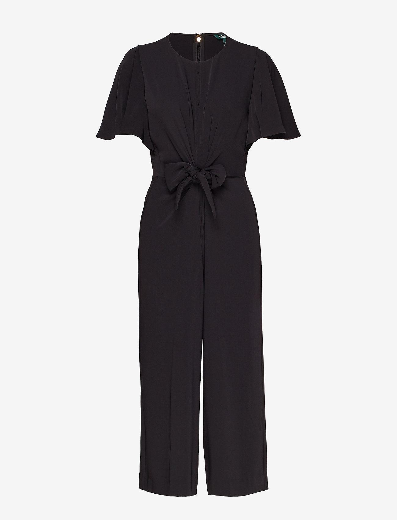 Lauren Ralph Lauren - Crepe Keyhole Jumpsuit - kombinezony - polo black - 0