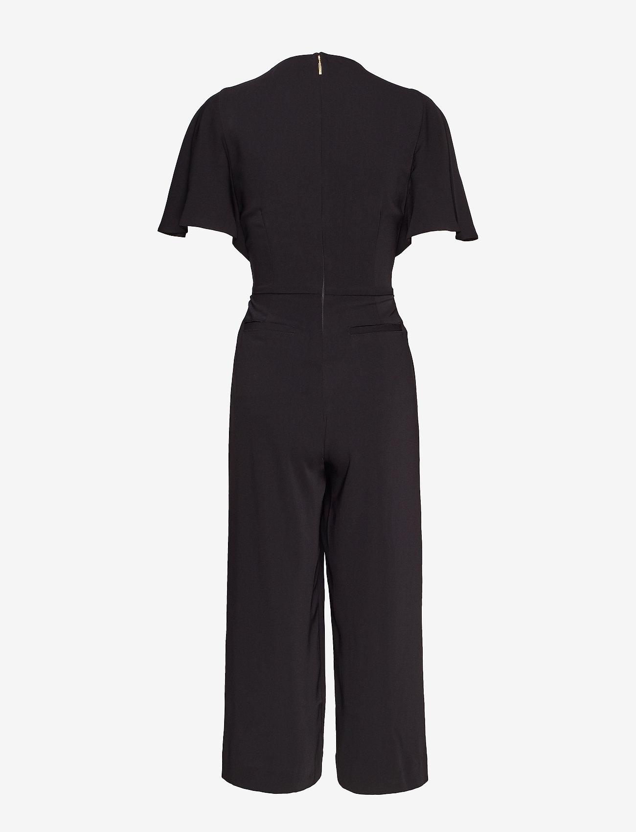 Lauren Ralph Lauren - Crepe Keyhole Jumpsuit - kombinezony - polo black - 1