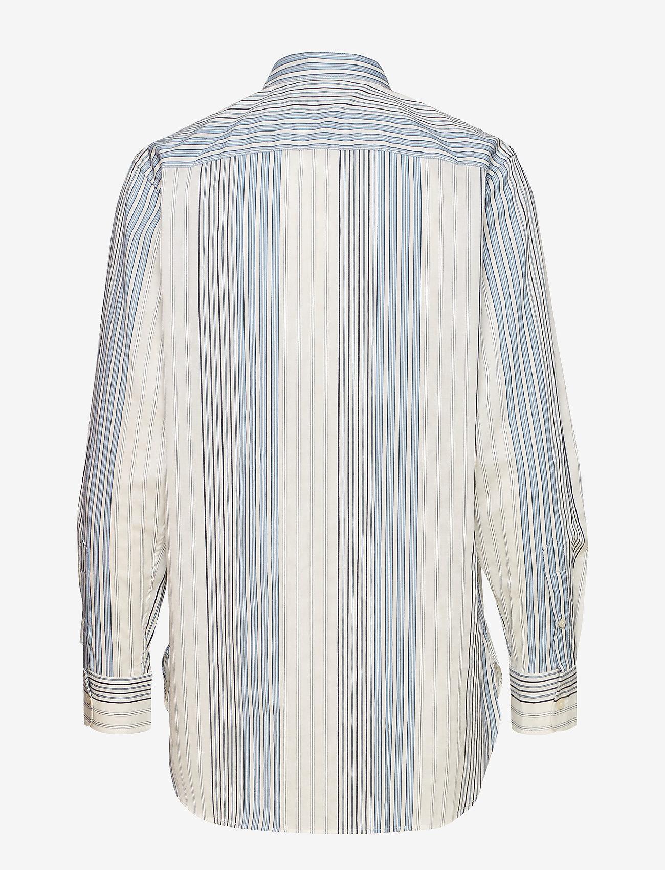 Lauren Ralph Lauren - Cotton Band-Collar Shirt - pitkähihaiset paidat - cream multi