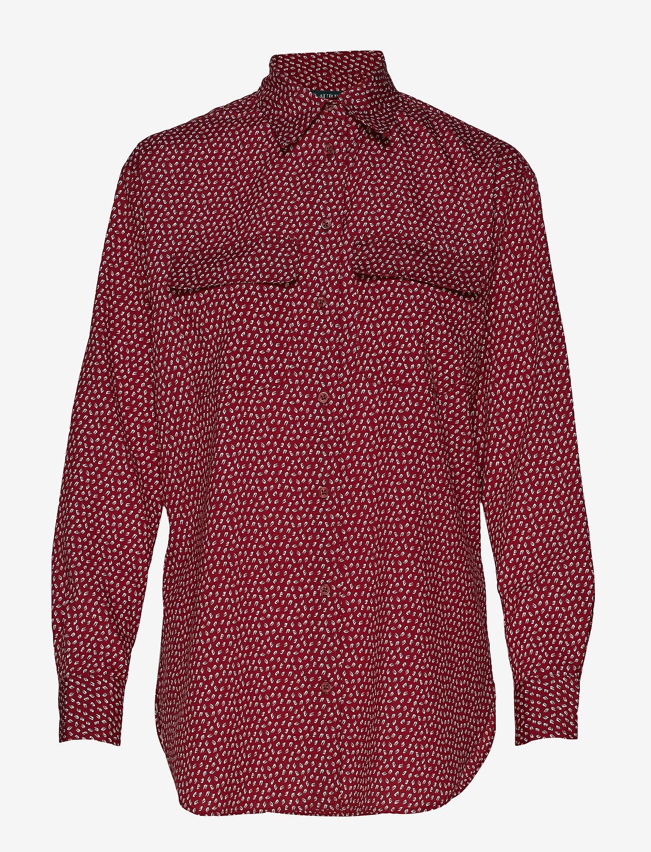 Lauren Ralph Lauren - POLY CDC-LSL-SHT - blouses à manches longues - dark raspberry mu - 0