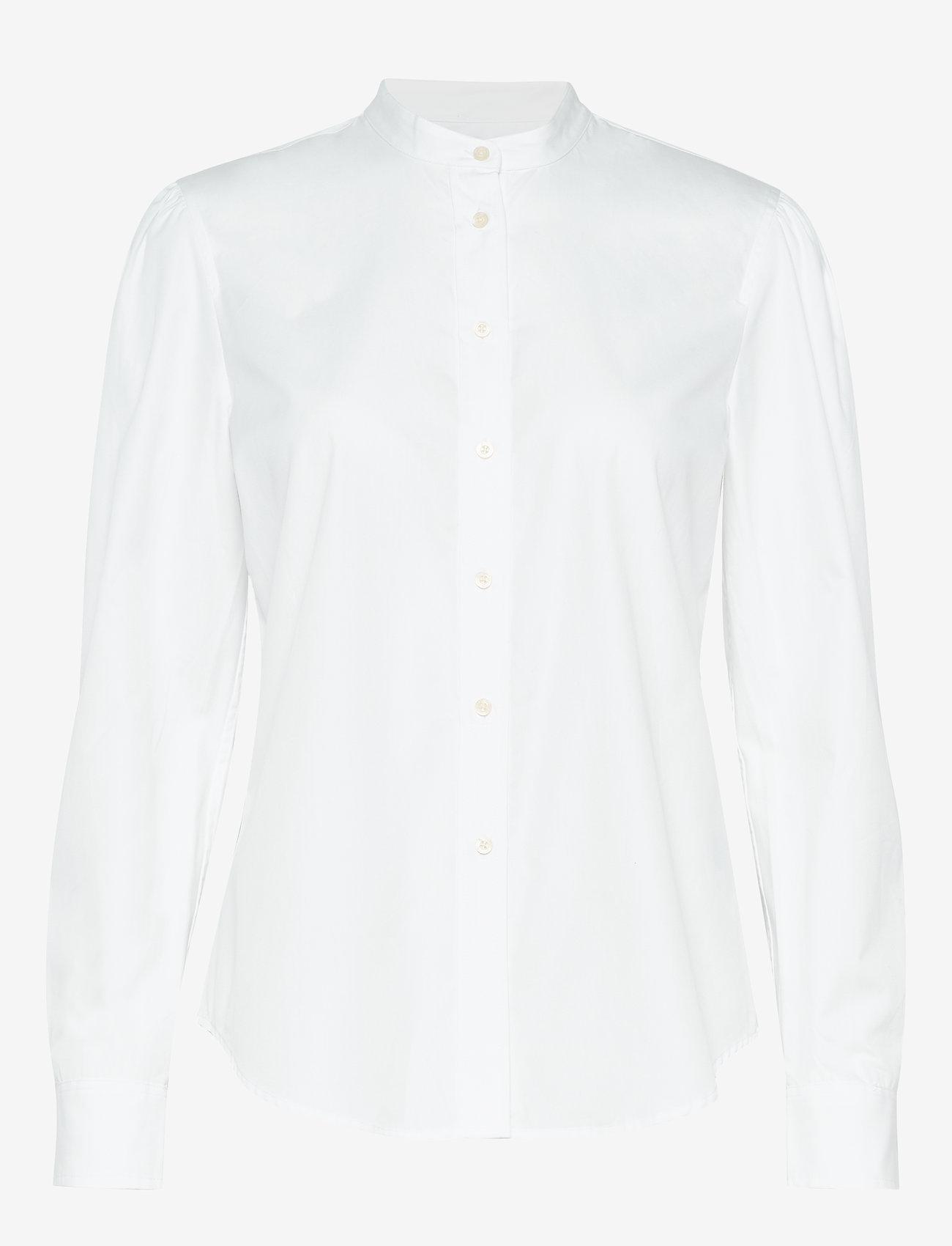 Lauren Ralph Lauren - 80S CTN BRDCLTH-SHIRT - pitkähihaiset paidat - white