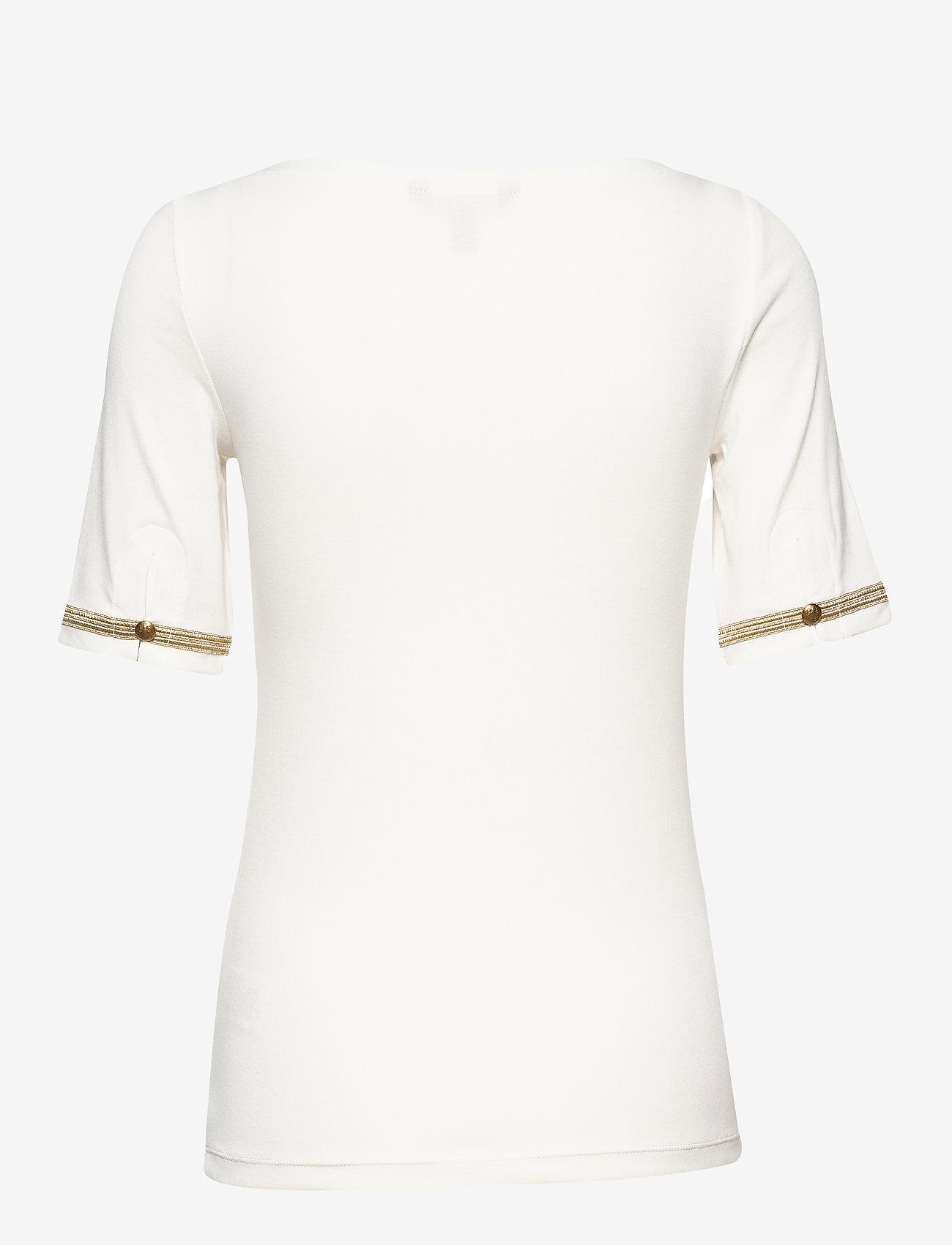 Lauren Ralph Boatneck Cotton-blend Top - T-shirts & Tops