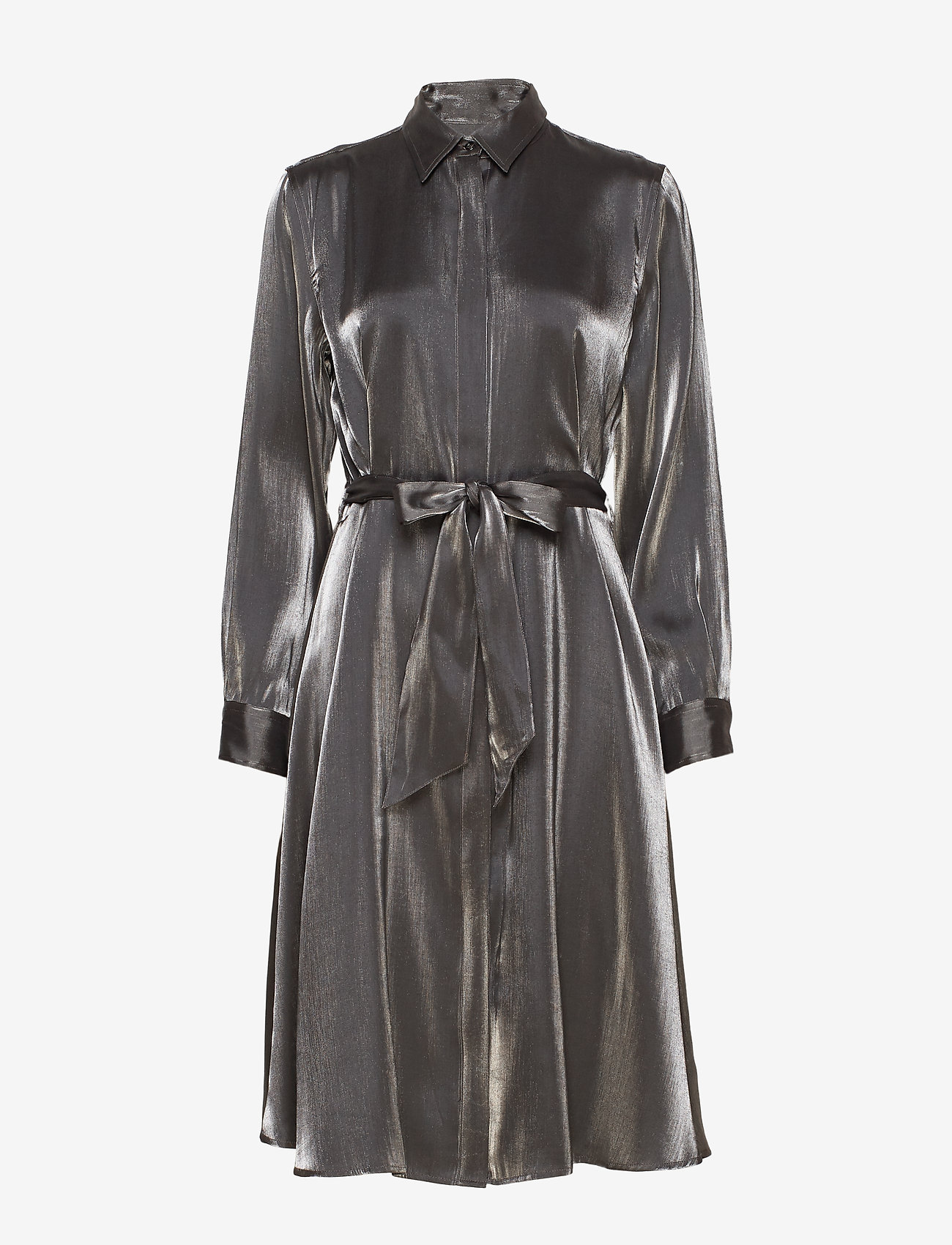 Lauren Ralph Lauren - SHIMMER SATIN-DRESS - paitamekot - black/gunmetal