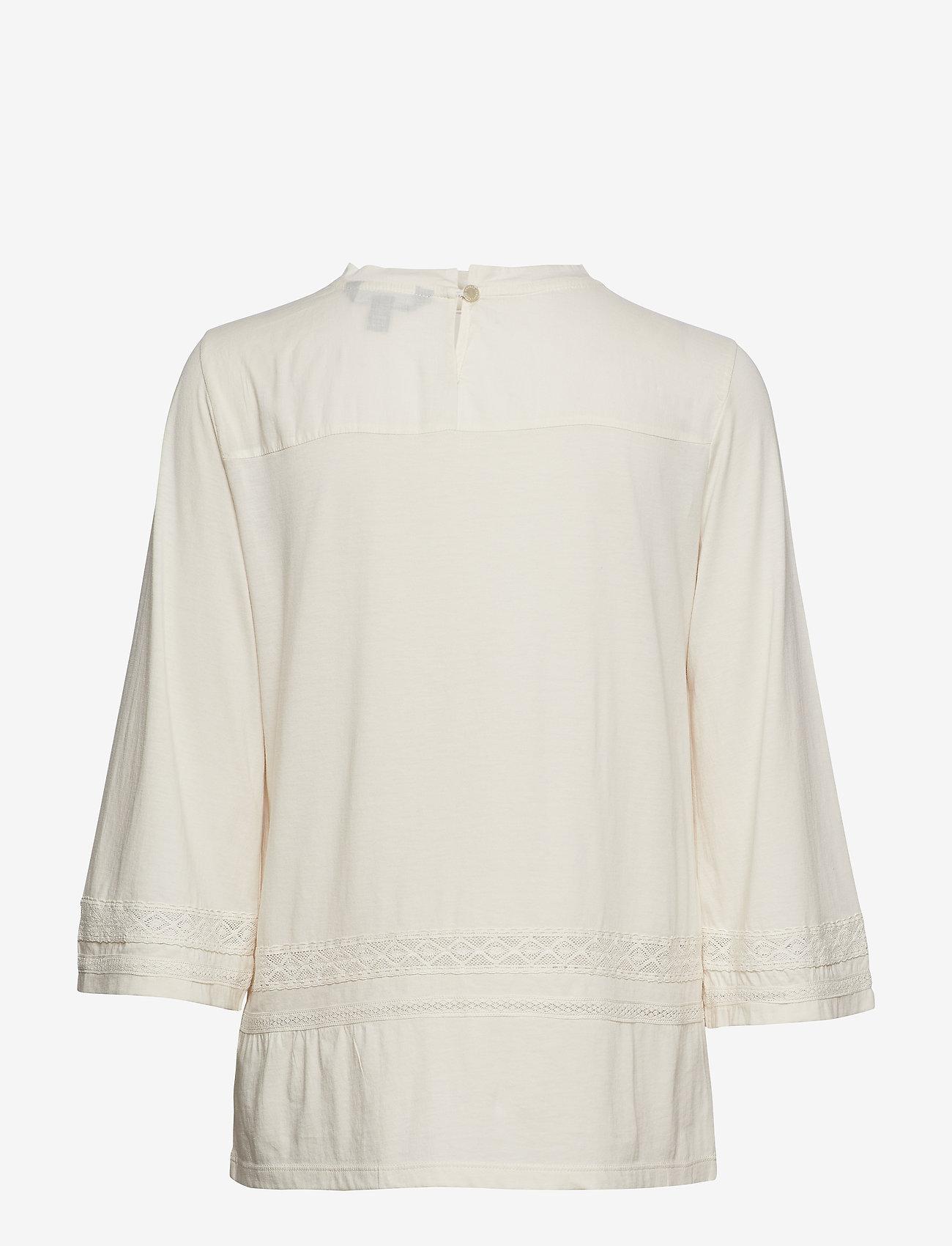Lauren Ralph Lauren - SUBLIME CTN JERSEY-KNT - blouses à manches courtes - mascarpone cream - 1