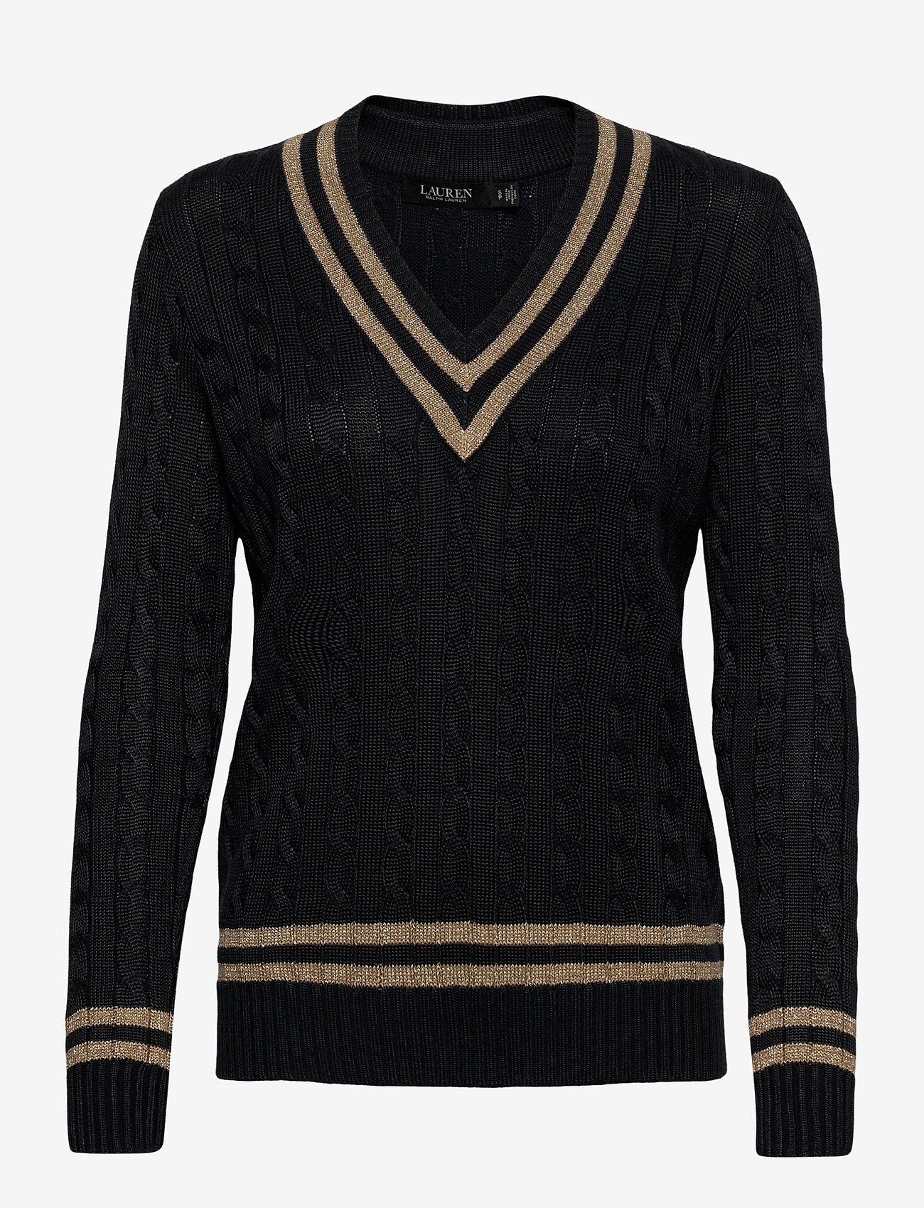 Lauren Ralph Lauren - Metallic Cricket Sweater - swetry - lauren navy/gold - 1