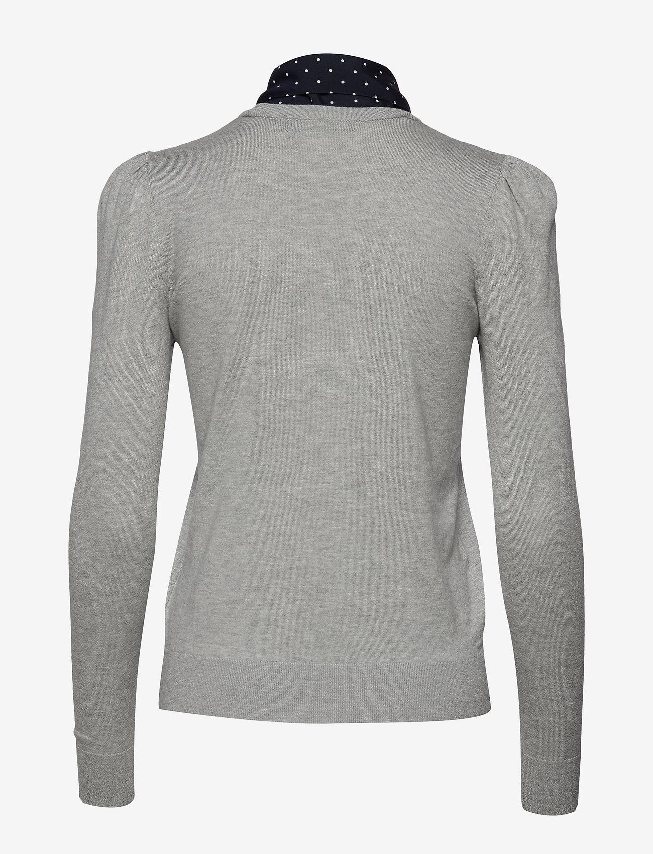 Neck-scarf Cotton Sweater (Pearl Grey Heathe) - Lauren Ralph Lauren 2BqoDi