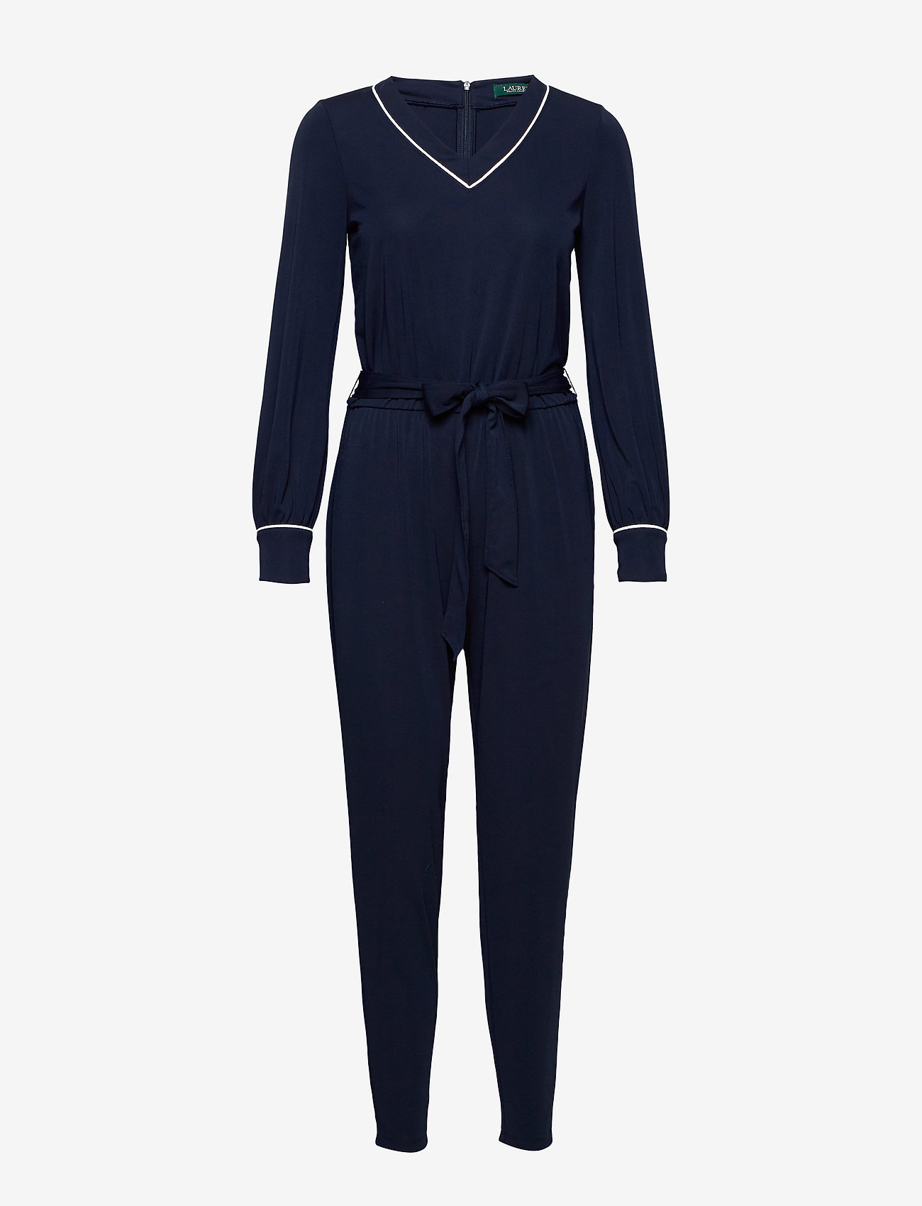 Lauren Ralph Lauren - Belted Long-Sleeve Jumpsuit - haalarit - lauren navy - 0