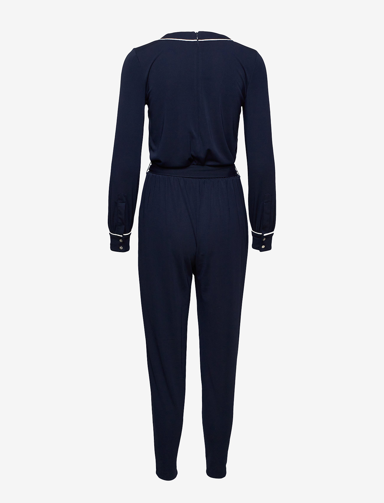 Lauren Ralph Lauren - Belted Long-Sleeve Jumpsuit - haalarit - lauren navy - 1